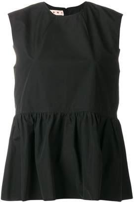Marni frill trim sleeveless top