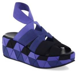 Salvatore Ferragamo Elettra Ribbon Platform Sandals $695 thestylecure.com