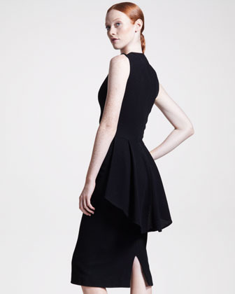 The Row Peplum-Back Jersey Dress