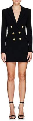Balmain Women's Tuxedo-Inspired Crepe Dress - Black