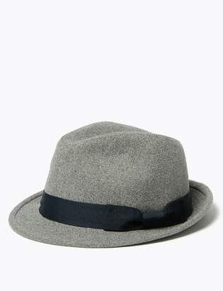 Marks and Spencer Trilby Hat with Wool