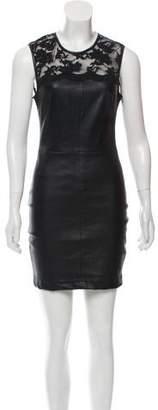 Robert Rodriguez Leather Mini Dress