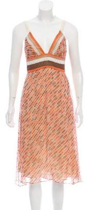 Miguelina Printed Sleeveless Dress