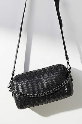 Anthropologie Woven Faux Leather Clutch