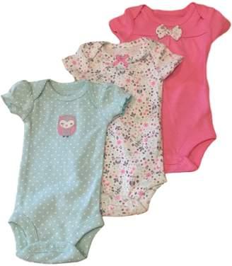 Carter's Child of Mine Baby Girl Bodysuits Sleepy Owl , 3pc