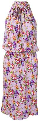 Moschino PRE-OWNED floral halter dress