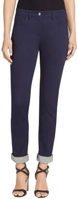 St. John Sift Stretch Denim Slim Capri Jeans