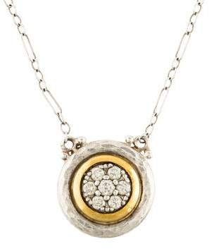Gurhan Two-Tone Gold Circle Pendant