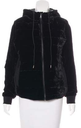 Velvet Zip-Up Jacket