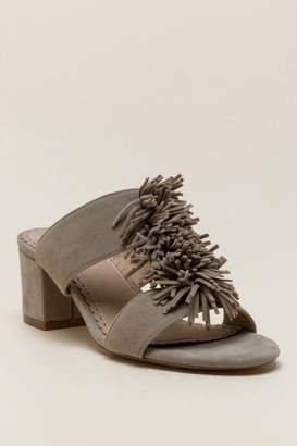 Restricted Holland Fringe Mule - Taupe