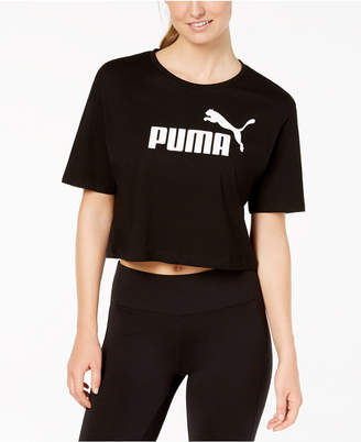 Puma Cotton Cropped Logo T-Shirt