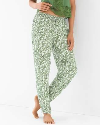 Rayon Challis Banded Ankle Pajama Pants Wander Scroll Artichoke