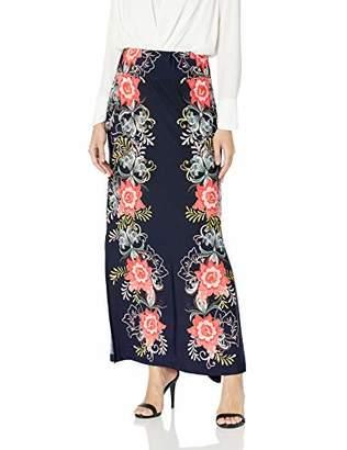 MSK Women's Daytime Maxi Skirt with Puff Print Motif