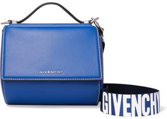 Pandora Box Mini Leather Shoulder Bag - Bright blue