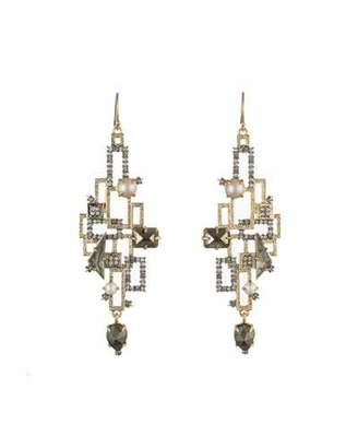 Alexis Bittar Brutalist Stone Wire Earrings