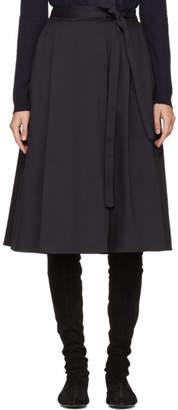 Jil Sander Navy Navy Wrap Skirt