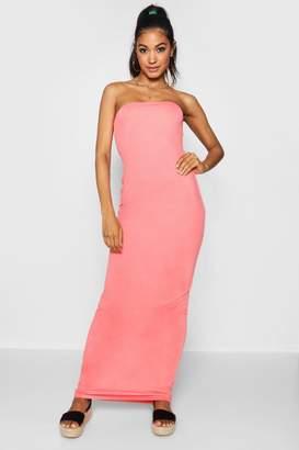boohoo Bandeau Column Jersey Maxi Dress