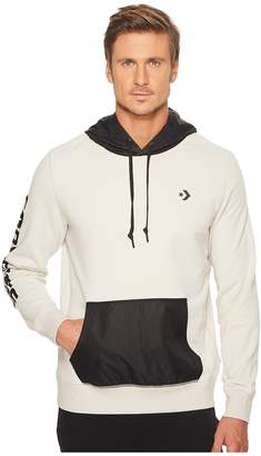 Converse Mixed Media Pullover Hoodie Men's Sweatshirt