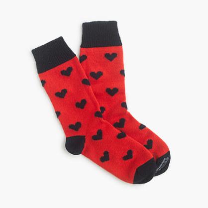 J.CrewCorgiTM cashmere socks with hearts