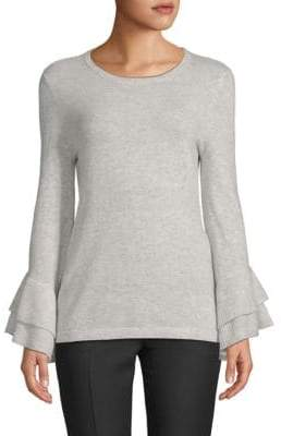 Saks Fifth Avenue BLACK Tiered Bell-Sleeve Sweater