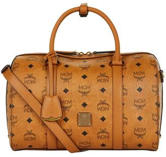 MCM Medium Signature Visetos Boston Bag