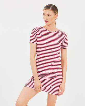 Dorothy Perkins Stripe Embellished Shift Dress
