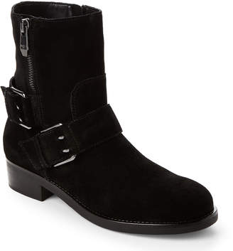 Marc Fisher Black Parole Moto Suede Boots