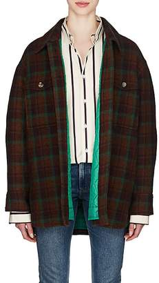 Isabel Marant Women's Harvey Plaid Wool Flannel Coat