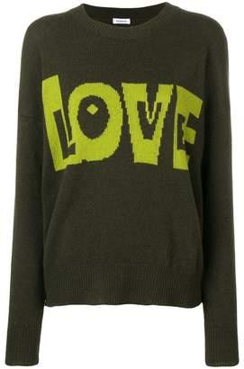 P.A.R.O.S.H. love intarsia jumper