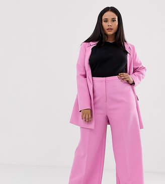 Asos DESIGN Curve wide leg suit trousers