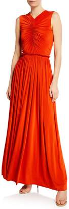Jason Wu Collection Cinched Fluid Jersey Cutout Gown