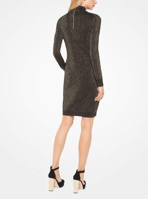 MICHAEL Michael Kors Metallic Cotton-Blend Cutout Dress