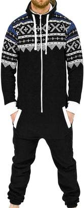 SkylineWears Mens Fashion Onesie Jumpsuit one Piece non Footed Pajamas