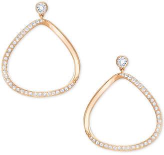 Swarovski Gaya Asymmetrical Pave Hoop Earrings