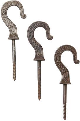 Rejuvenation Set of 3 Ornate Cast Iron Plant Hooks