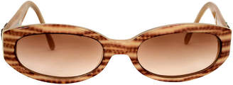 One Kings Lane Vintage Ferragamo Striped Tortoise Sunglasses