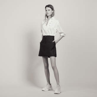 Sandro A-Line Skirt With Jewelled Button