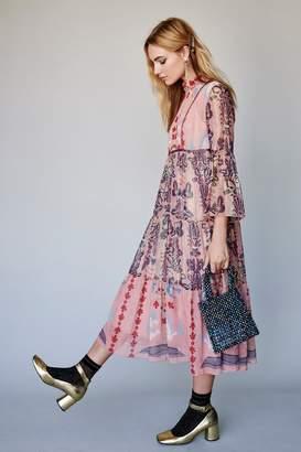 Anna Sui Feathers and Foliage Midi Dress
