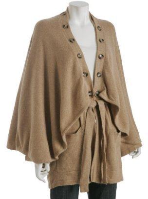Mara Hoffman camel 'Ultimate Cape' belted cardigan