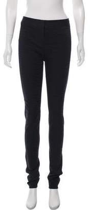 Diane von Furstenberg Textured Skinny Leg Pants