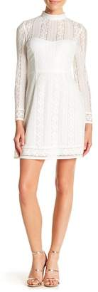 Kensie Long Sleeve Lace Sheath Dress