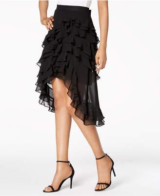 MSK Ruffled High-Low A-Line Skirt