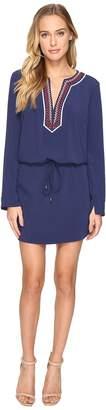 Laundry by Shelli Segal Long Sleeve Dress w/ Tie At Waist Women's Dress
