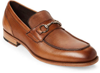 Bacco Bucci Whiskey Mossi Leather Bit Loafers