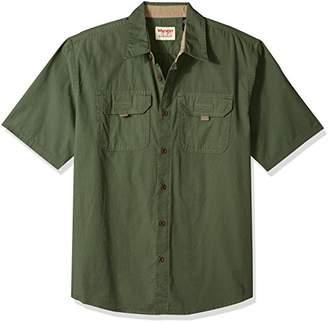 Wrangler Authentics Men's Authentics Short Sleeve Canvas Shirt