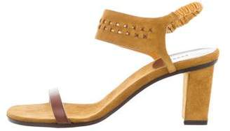 Carritz Leather-Trimmed Suede Sandals w/ Tags