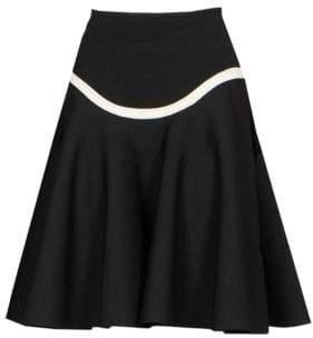 Alexander McQueen Curved Stripe A-Line Skirt