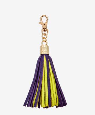 GiGi New York Tassel Bag Charm, Purple and White