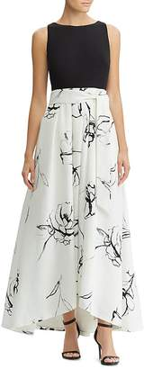 Lauren Ralph Lauren Abstract-Floral Gown