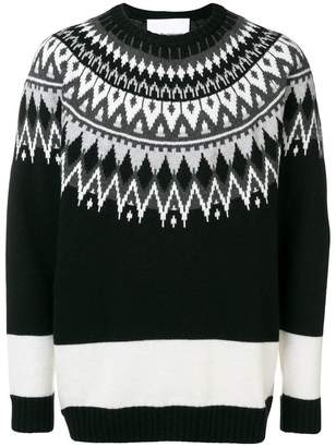 White Mountaineering crew knit jumper